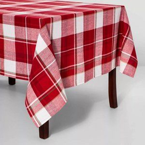 "New Holiday Plaid Rectangle Tablecloth 60""x120"""
